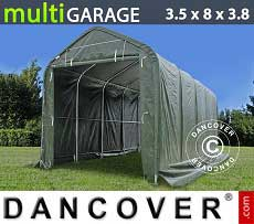 Carpa de almacén multiGarage 3,5x8x3x3,8m, Verde