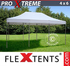 Carpa plegable FleXtents Xtreme 4x6m Blanco