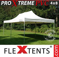 Carpa plegable FleXtents Xtreme Heavy Duty 4x8m, Blanco