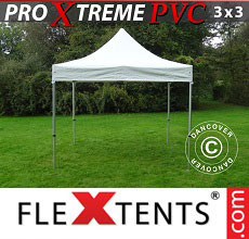 Carpa plegable FleXtents Xtreme Heavy Duty 3x3m, Blanco
