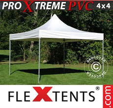 Carpa plegable FleXtents Xtreme Heavy Duty 4x4m, Blanco
