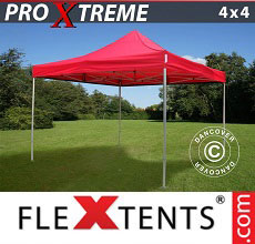 Carpa plegable FleXtents Xtreme 4x4m Rojo