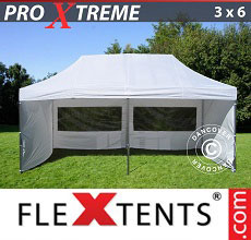 Carpa plegable FleXtents Xtreme 3x6m Blanco, Incl. 6 lados