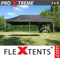 Carpa plegable FleXtents Xtreme 3x6m Negro