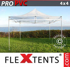 Carpa plegable FleXtents PRO 4x4m Transparente