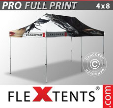 Carpa plegable FleXtents PRO con impresión digital completa, 4x8m