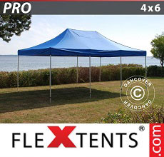Carpa plegable FleXtents PRO 4x6m Azul