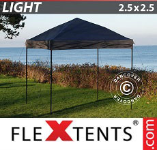 Carpa plegable FleXtents Light 2,5x2,5m Negro
