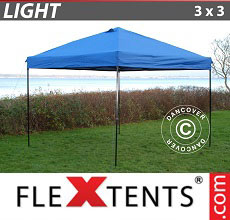 Carpa plegable FleXtents Light 3x3m Azul