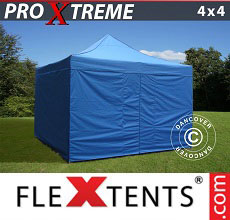 Carpa plegable FleXtents Xtreme 4x4m Azul, incl. 4 lados