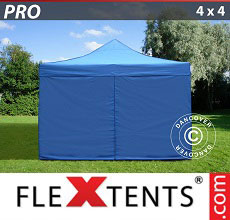 Carpa plegable FleXtents PRO 4x4m Azul, incl. 4 lados
