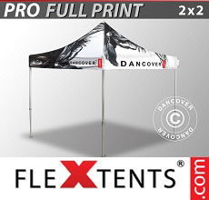 Carpa plegable FleXtents PRO con impresión digital completa, 2x2m