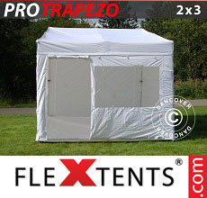Carpa plegable FleXtents PRO Trapezo 2x3m, Incl. 4 lados