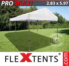 Carpa plegable FleXtents Multi 2,83x5,87m Blanco