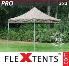 Carpa plegable FleXtents PRO 3x3m Camuflaje