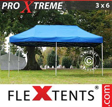 Carpa plegable FleXtents Xtreme 3x6m Azul
