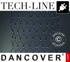 Red LED Tech-Line, 3x3m, blanco cálido