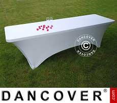 Cubierta flexible para mesa, 244x75x74cm, Blanco