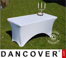 Cubierta flexible para mesa, 150x72x74cm, Blanco