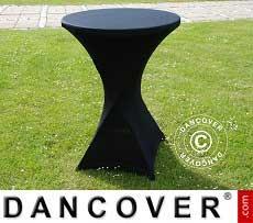 Cubierta flexible para mesa, Ø80x110cm, Negro