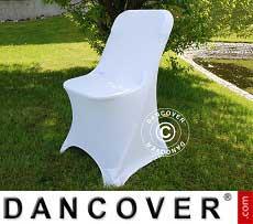 Cubierta flexible para silla, 44x44x80cm, Blanco (10 piezas)