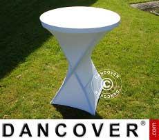 Cubierta flexible para mesa, Ø80x110cm, Blanco