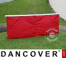 Panel lateral para mostrador de FleXtents PRO, 3m, Rojo