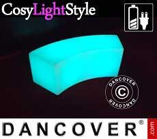 Sofá LED Glow 120x43x43 cm.