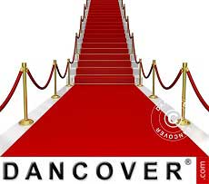 Tapete de alfombra roja, 1,25x8m, 400g