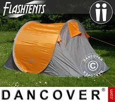 Tienda de campaña pop-up, Flash Tents®, 2 personas, Naranja/Gris
