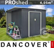 Caseta de jardín ProShed con saliente, 2,57x2,69x1,87 m, Antracita