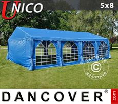 Carpa para fiestas UNICO 5x8m, Azul