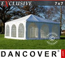 Carpa para fiestas Exclusive 7x7m PVC, Blanco