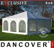 Carpa para fiestas Pagoda Exclusive 6x6m PVC, Blanco