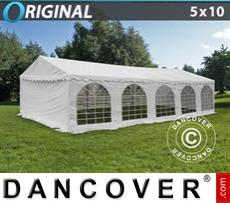 Carpa para fiestas Original 5x10m PVC, Blanco