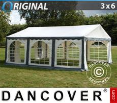 Carpa para fiestas Original 3x6m PVC, Gris/Blanco