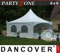 Carpa para fiestas PartyZone 6x6 m PVC