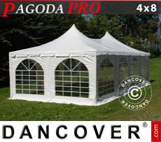 Carpa para fiestas Pagoda PRO 4x8m, PVC