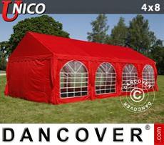 Carpa para fiestas UNICO 4x8m, Rojo