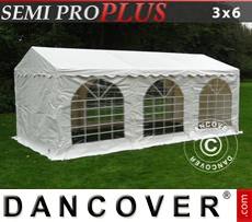 Carpa para fiestas SEMI PRO Plus 3x6m PVC, Blanco