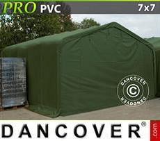 Carpa grande de almacén PRO 7x7x3,8m PVC, Verde