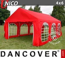 Carpas para fiestas UNICO 4x6m, Rojo
