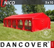 Carpas para fiestas UNICO 5x10m, Rojo