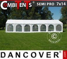 Carpa para fiestas SEMI PRO Plus CombiTents® 7x14m 5 en 1, Blanco