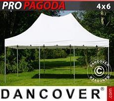 Carpa para fiestas PRO Peak Pagoda 4x6m Blanco