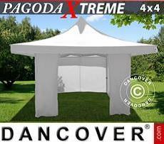 Carpa para fiestas  Pagoda Xtreme 4x4m / (5x5m) Blanco, Incl. 4 lados