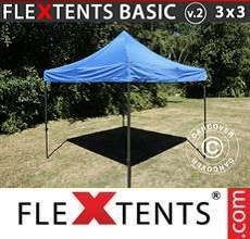 Carpa plegable FleXtents  Basic v.2, 3x3m Azul