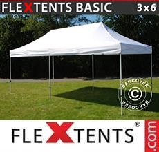 Carpa plegable FleXtents Basic v.2, 3x6m Blanco