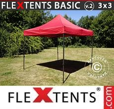Carpa plegable FleXtents Basic v.2, 3x3m Rojo
