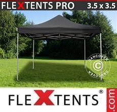 Carpa plegable FleXtents PRO 3,5x3,5m Negro